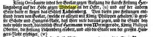 König Otto erbaut die Harlyburg