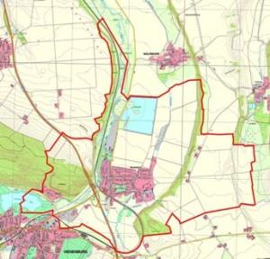 Die Gemarkung (Gemeindegrenzen) von Wiedelah